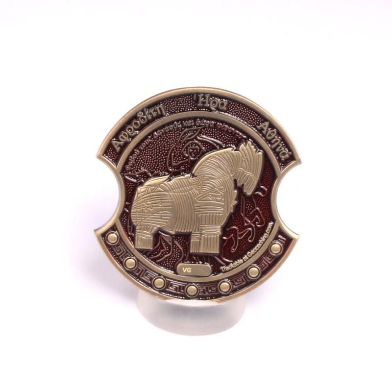 Troy Geocoin Antiek bronze