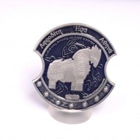 Troy Geocoin Antique Silver