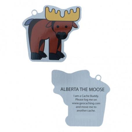 Travel Tag Alberta the Moose