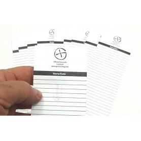 10 x Logsheet waterproof 6 x 28cm, 1 sheet