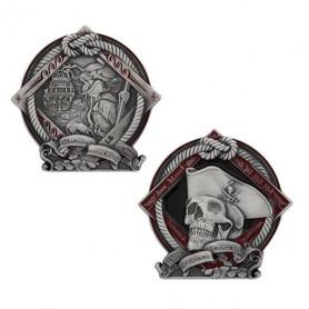 2021 - Pirate Geocoin - Antique silver