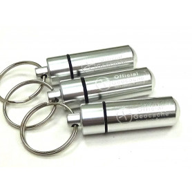 Set of 3 x round Micro container, silver