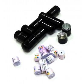 Set of 10x nano container black + 10x nano logroll