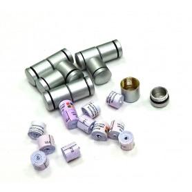 Set of 10 x nano Behälter schwarz + 10x nano logrol