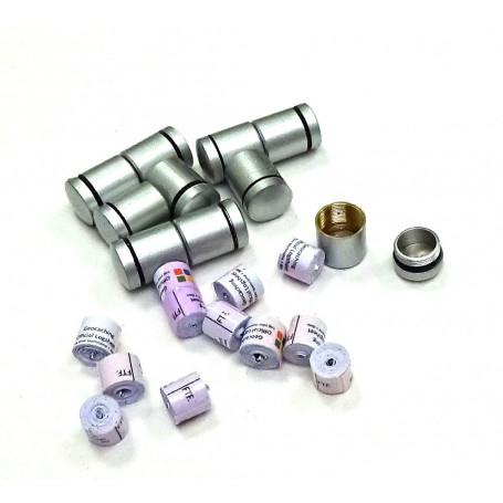 Set 10 x nano container zilver + 10x nano logrol