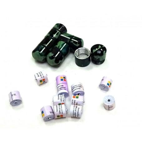 Set 10 x nano container camo groen/zwart + 10x nano logrol