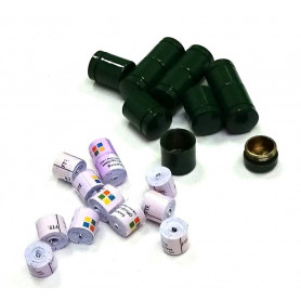 Set of 10x nano container green + 10x nano logroll