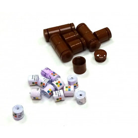 Set of 10 x nano Behälter braun + 10x nano logrol