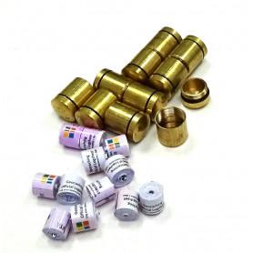 Set of 10x nano container brass + 10x nano logroll