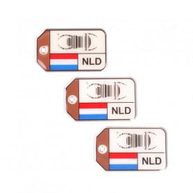 set 3x Travel Bug origins -The Netherlands - V2