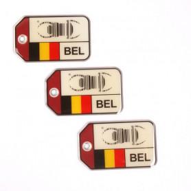 set 3x Travel Bug origins - Belgien