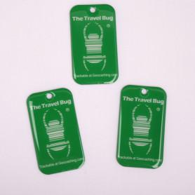 3 x QR Travel Bug® Groen