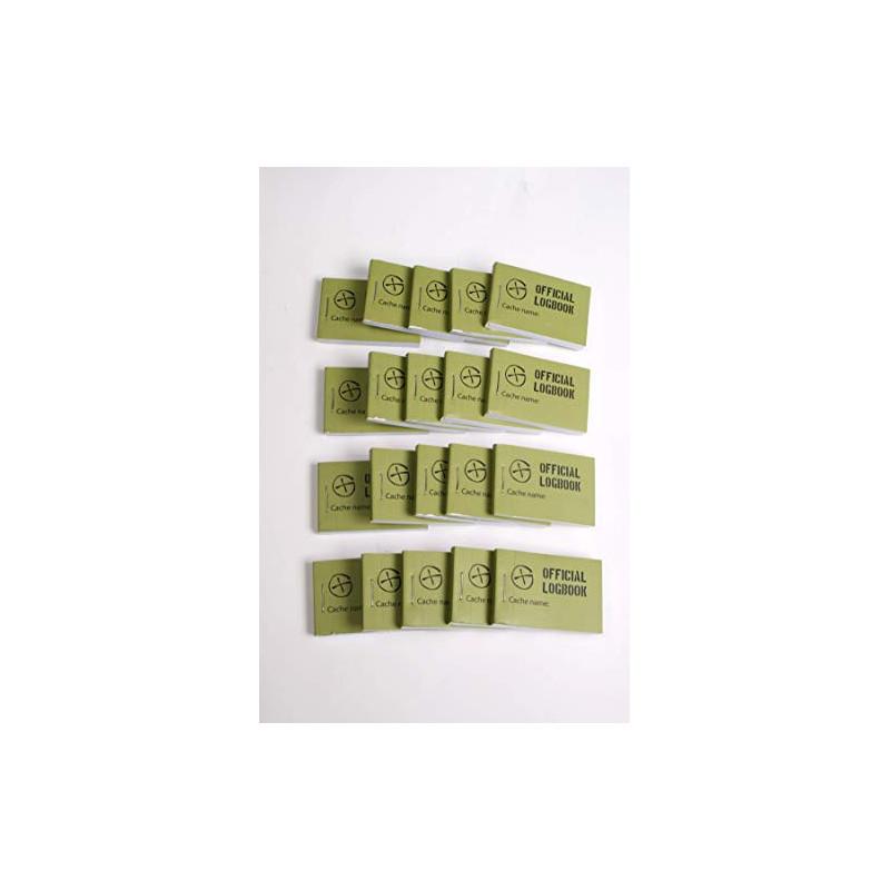 Logboek Groen Geocaching, 35x50mm, 200 logs