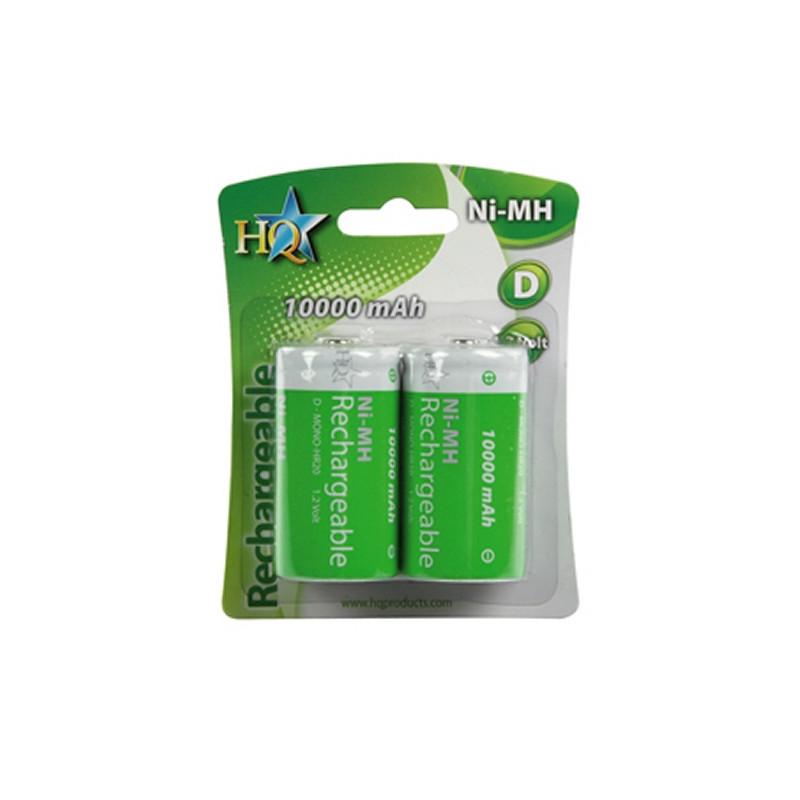 HQ Ni-MH 10.000 mAh R20 oplaadbare batterijen