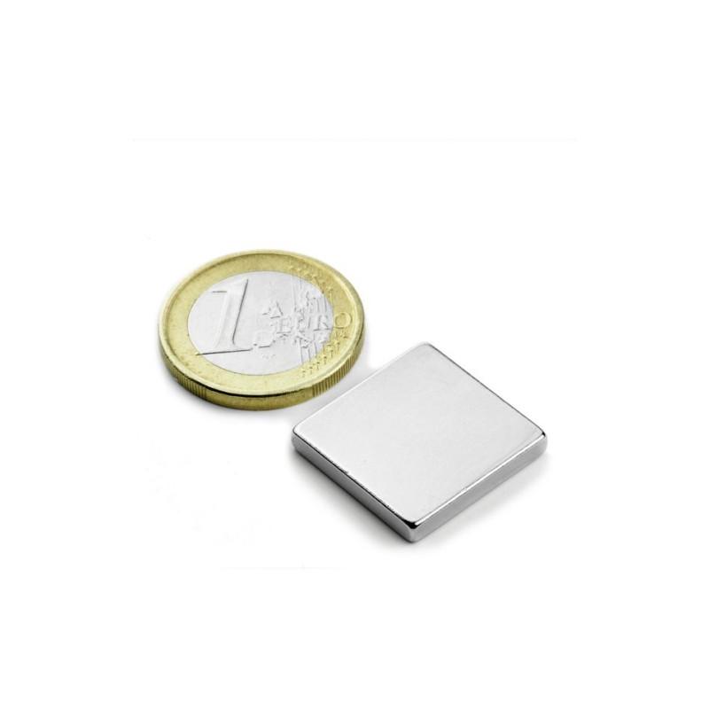 5 stuks 20 mm x 20 mm x 3 mm Neodym Magneten