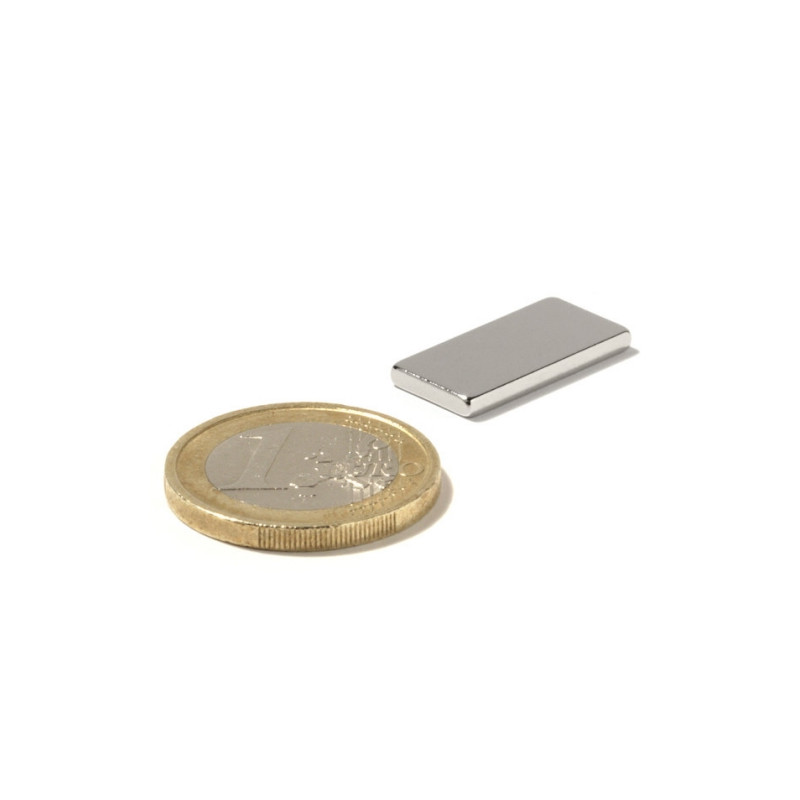 5 pieces 20 mm x 10 mm x 2 mm Neodym Magnets