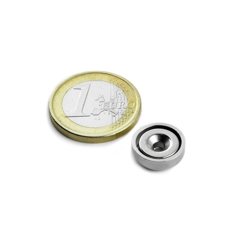 1 pc 13 mm Round Countersunk Neodym Magnet