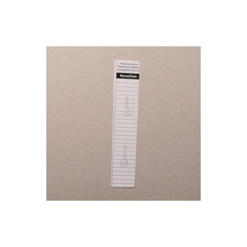 Logsheet waterproof 2,1 x 11 cm, 1 sheet