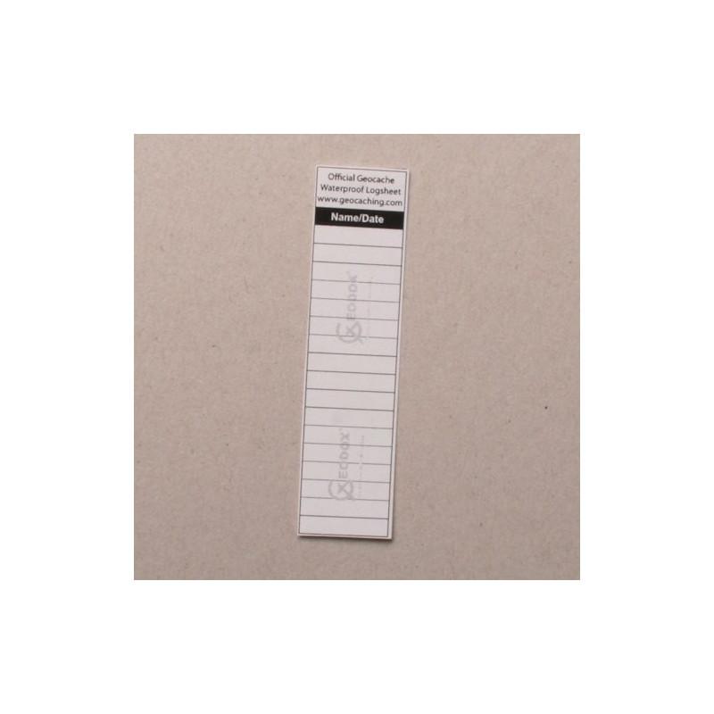 Logsheet waterproof 1,7 x 7 cm, 1 sheet