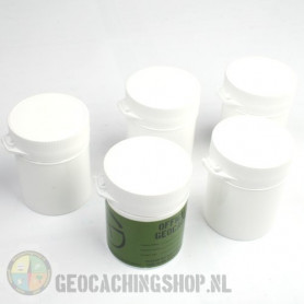 Micro container 105 ml wit, 5 stuks