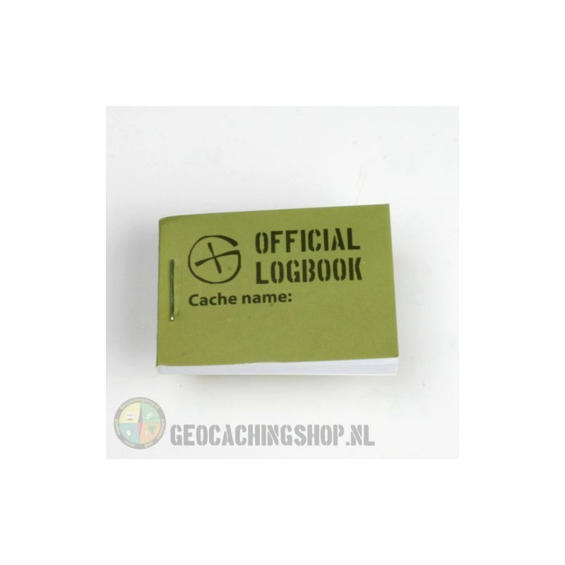 Logbook Green Geocaching, 35x50mm, 200 logs