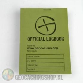 Logbuch Grün Geocaching, 115x80mm, 100 Seiten