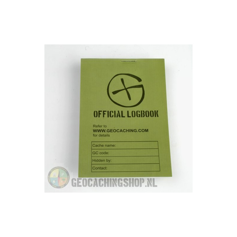 Logboek Green Geocaching, 115x80mm, 100 pag.