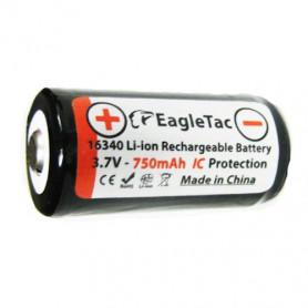 EagleTac 16340 - RCR123 accu - 750mAh