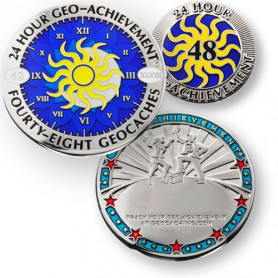 Geo-Achievement ® set 24 Hours 48 Caches