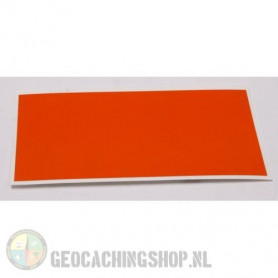 Reflector Foil 100 mm x 50 mm Orange
