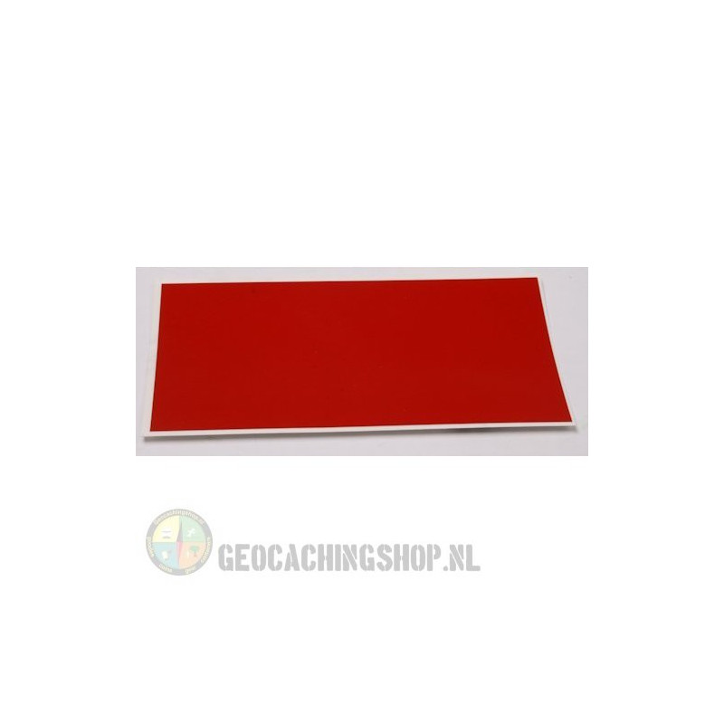 Reflector Foil 100 mm x 50 mm Rood