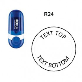 Log stempel - Pocket - 25 mm rond - Eigen tekst/logo