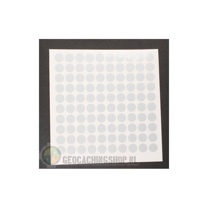 Reflector folie - 100 x Dots - white/silver
