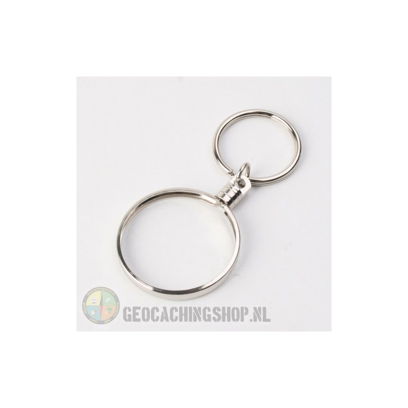Coin ring Zilver 38mm