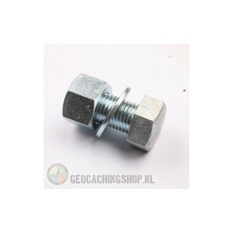 Mega bout cache container - zilver