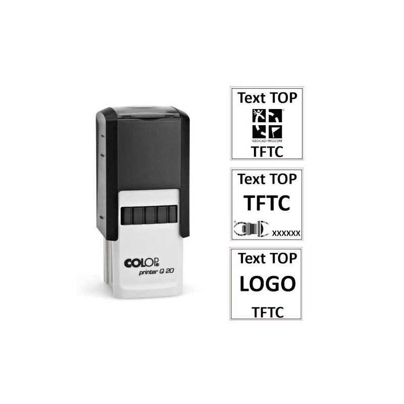 Log stamp - Printer - 20x20 mm - Own text/logo