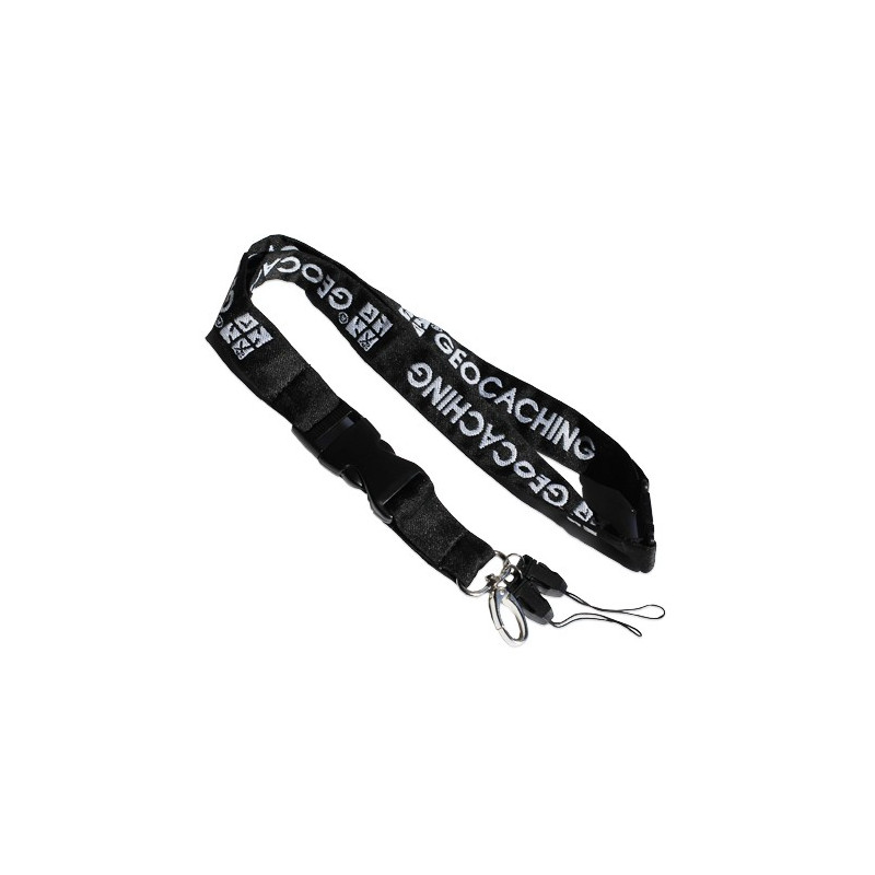 Lanyard Groundspeak black/white
