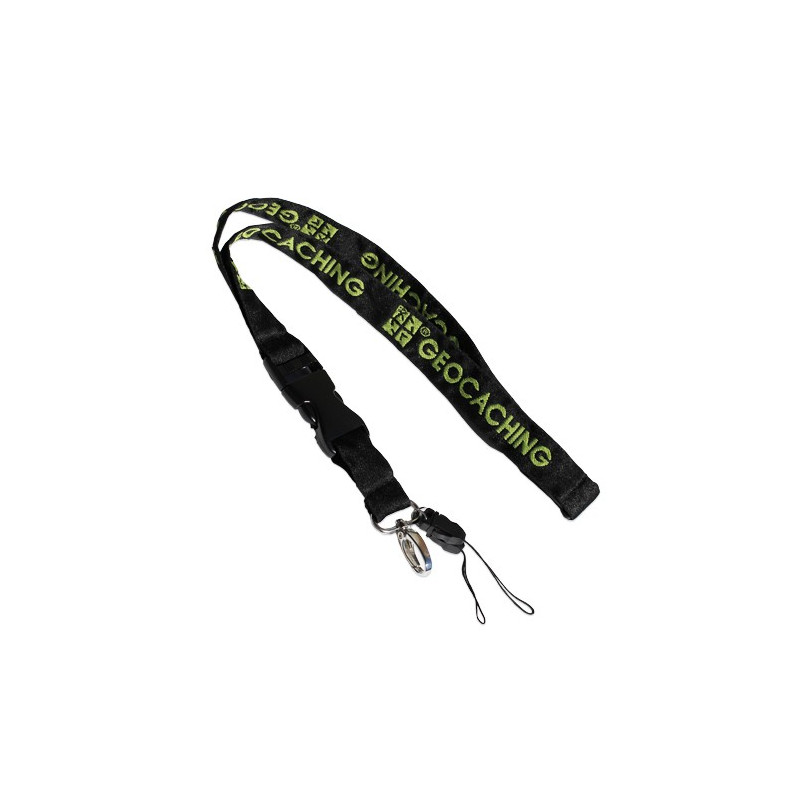 Lanyard Groundspeak black/green