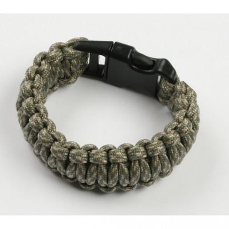 Paracord bracelet - Camo green - S