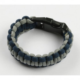 Paracord armband - Blauw met grijs - S