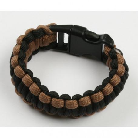 Paracord bracelet - Khaki-black - M