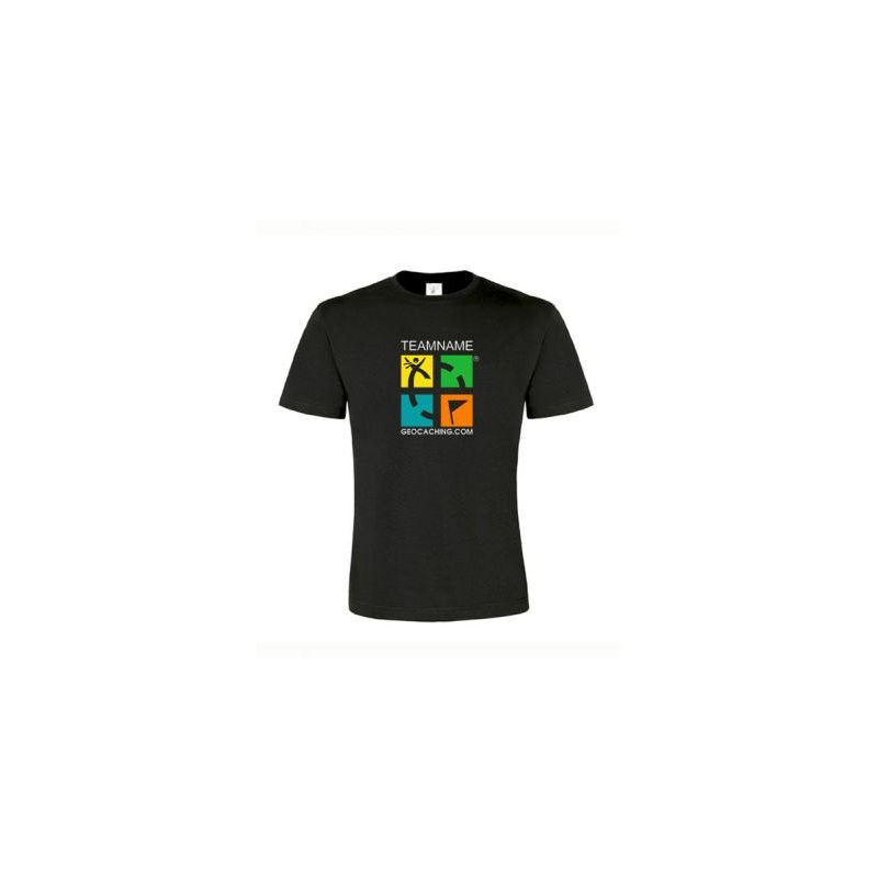 Groundspeak Logo T-shirt met Teamnaam (kleur)