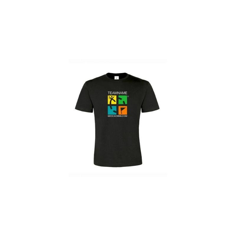 Groundspeak Logo T-shirt mit Name (farbig)