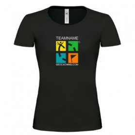 T-Shirt Groundspeak Logo Girlie mit Name