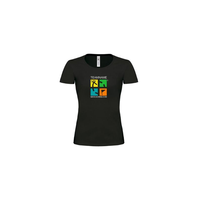 T-Shirt Groundspeak Women Logo with Teamname (color)