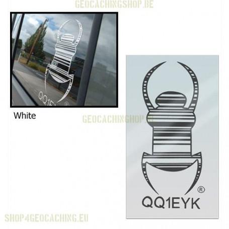 Travel bug - Sticker - 20 cm - Wit, decal