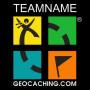 Groundspeak Logo hoody mit Name (farbig)