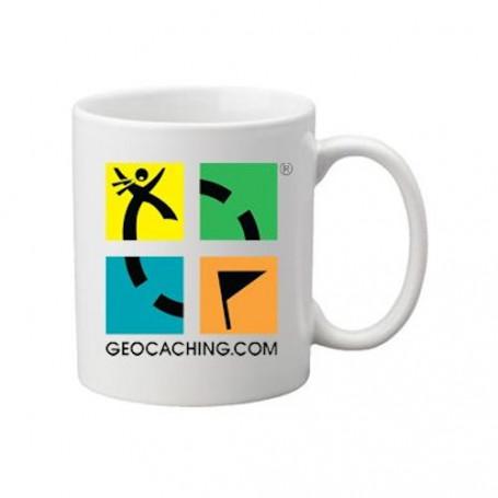 Koffie + thee mok: Groundspeak Logo