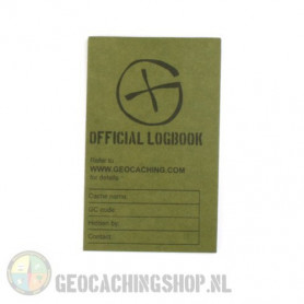 Logbook Green Geocaching, 80x50mm, 50 pag.