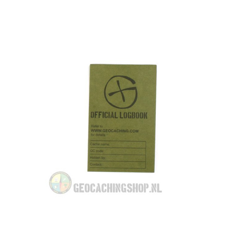 Logboek Groen Geocaching, 80x50mm, 50 pag.